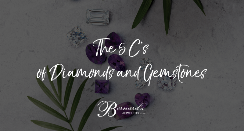 Learn the 5 C's of buying a diamond or gemstone